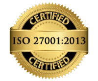 ISO certified company 27001:2013